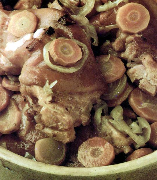Recettes de porc. Pieds de porc