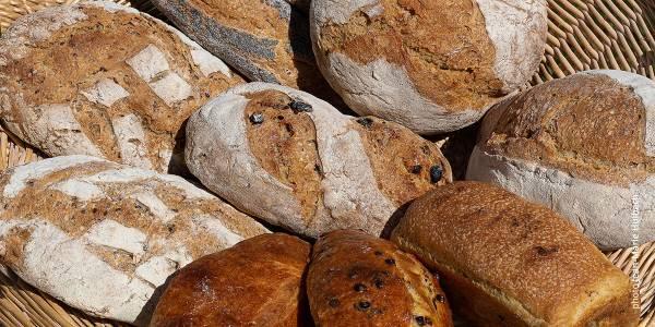 Paysans-boulangers de La Fajole assortiment de pains et brioches