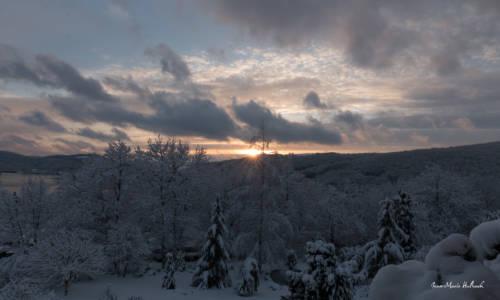 Coucher de soleil hivernal du 6 février 2018