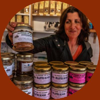 Montagne du Haut Languedoc. Produits du Haut Languedoc. La Ferme de Besses vente directe de viandes