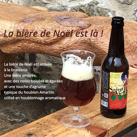 Brasserie artisanale du Castel. Bière de Noël