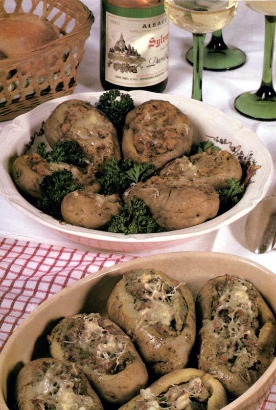 Recettes de pommes de terre farcies. A l'alsacienne