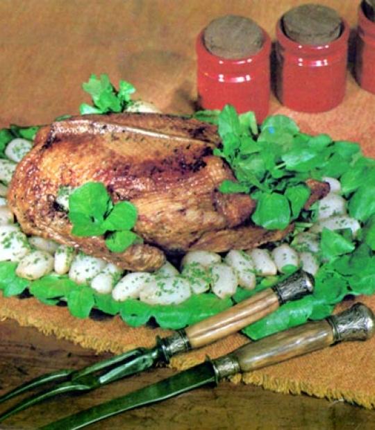 Recettes de canard. Canard braisé aux navets