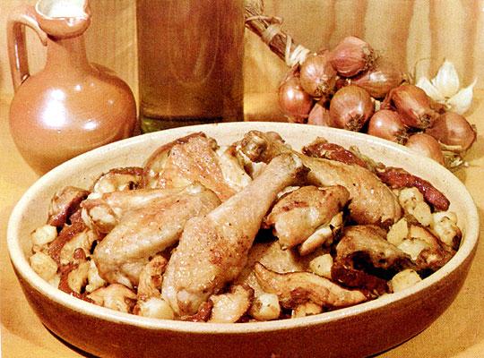 Recettes de cèpes. Cèpes et poulet à la savoyarde
