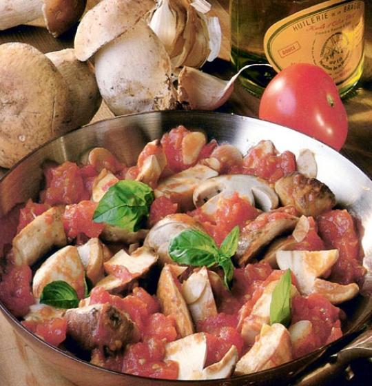 Recettes de cèpes. Cèpes à la provençale