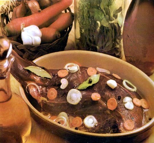 Recettes de chevreuil. Cuissot de chevreuil rôti
