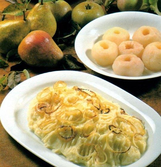 Recettes de desserts de pommes de terre. Ciel et terre