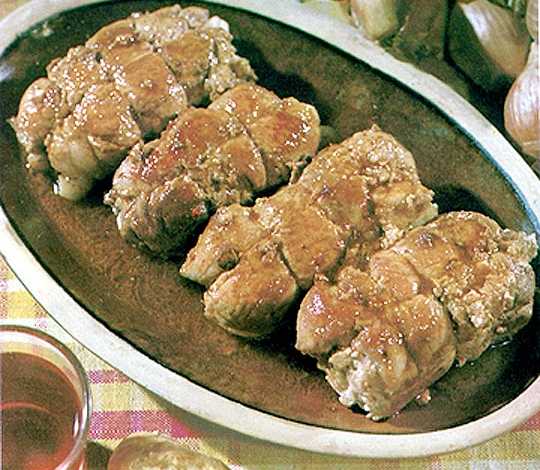 Recettes de porc. Escalopes de porc