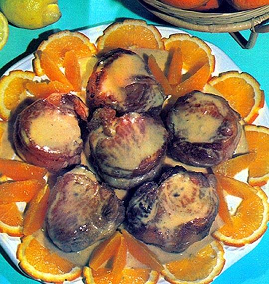 Recettes de filet de porc. Filet mignon de porc aux oranges