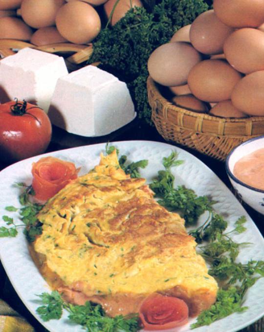 Omelette au fromage de chèvre frais