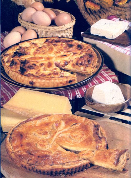 Pâté de fromage de chèvre suivi de la tourte aux fromages de chèvre et comté