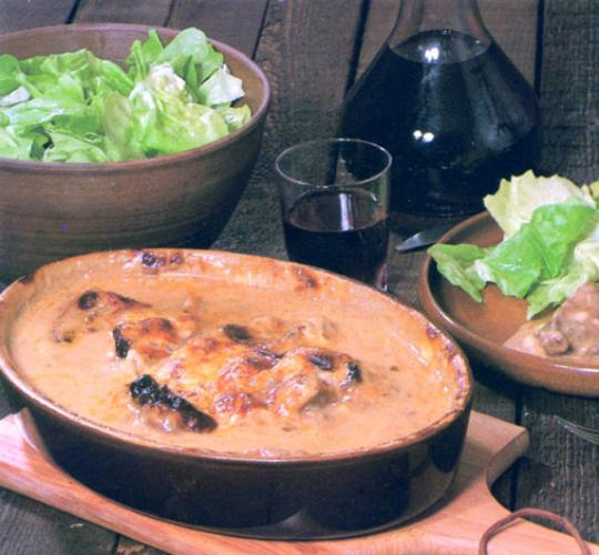 Boeuf franc-comtois au fromage de comté
