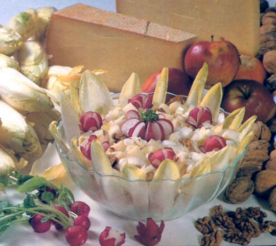 Salade d'endives au fromage de comté