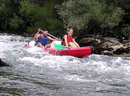 Loisirs en Haut Languedoc. Le kayak