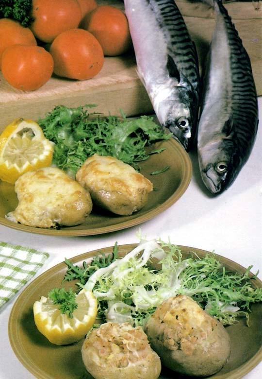Recettes de pommes de terre farcies. A la marinière