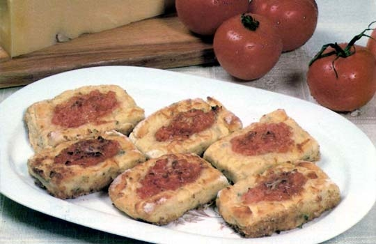 Recettes de gratin de pommes de terre. Médaillons au fromage