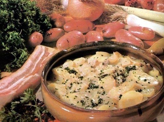 Recettes de pommes de terre rôties. A la normande