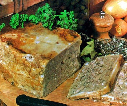 Recettes de pâtés. Le pâté campagnard