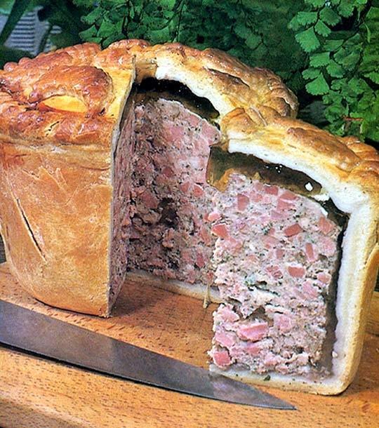 Recettes de pâtés. Le pâté veau et jambon