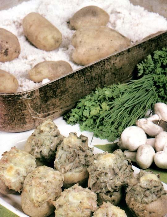 Recettes de pommes de terre farcies. A la paysanne