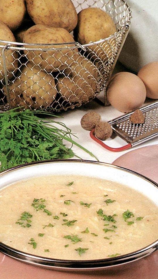 Recettes de pommes de terre. Potage muscade