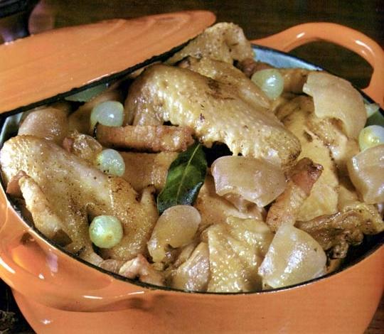 Recettes de poulet. Daube de poulet