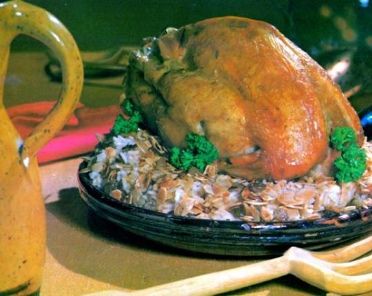Recettes de poulet. Poulet aux amandes