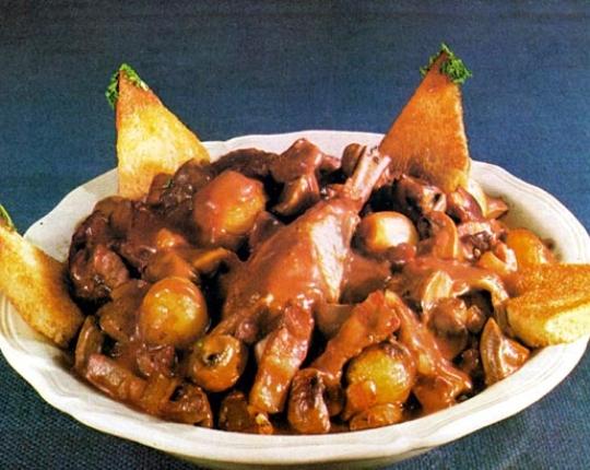 Recettes de poulet. Poulet en barbouille