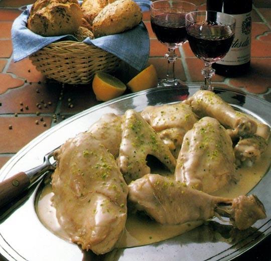 Recettes de poulet. Blanquette de poulet