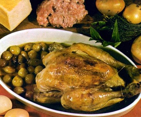 Recettes de poulet. Poulet à la cauchoise