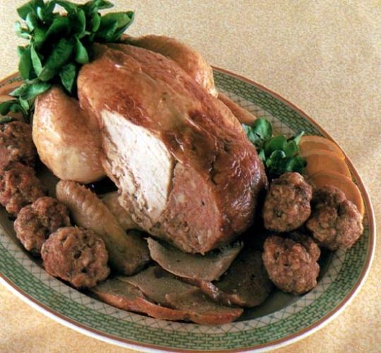 Recettes de poulet. Poulet aux châtaignes