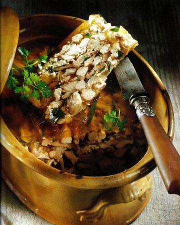 Recettes de poulet. Poulet en gelée au miel