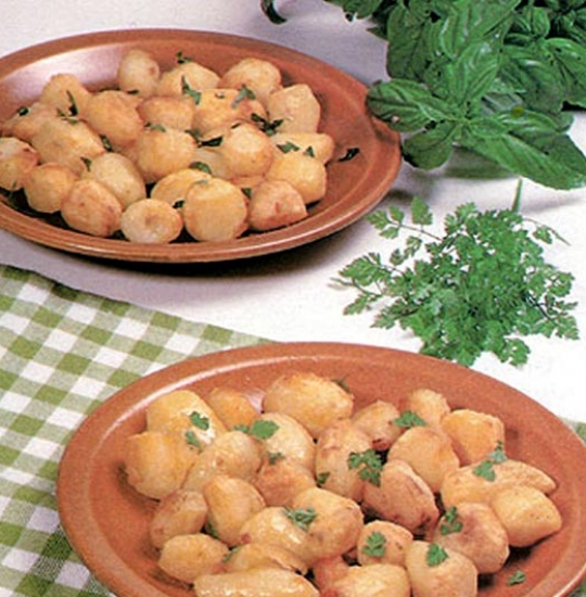 Recettes de pommes de terre rôties. En cocotte