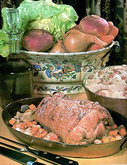 Recettes de rôti de porc. Rôti de porc aux navets