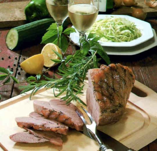 Recettes de rôti de porc. Rôti de porc au vin blanc