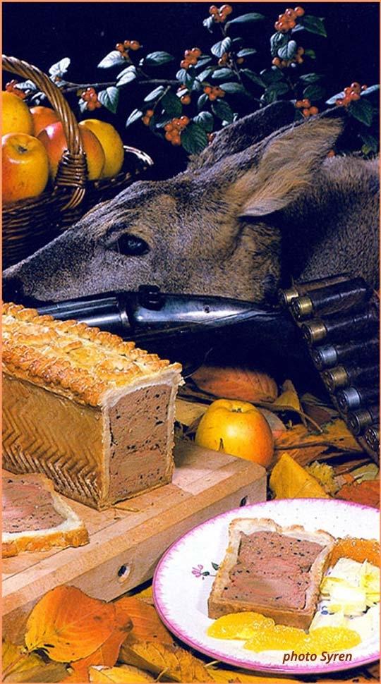 Recettes de terrines de gibiers. Terrines de chevreuil
