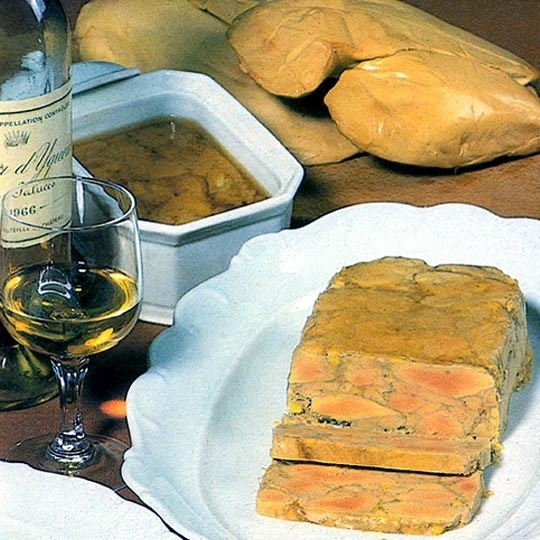Recettes de terrines. Terrine de foie gras