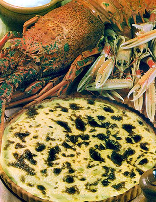 Recettes de tourtes. Tourte aux crustacés